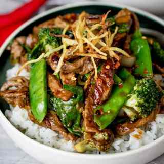 Spicy Ginger Beef Stir Fry