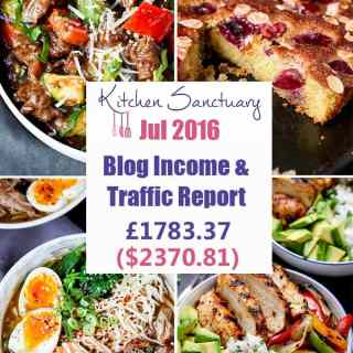 Blog Income and Traffic Report July 2016