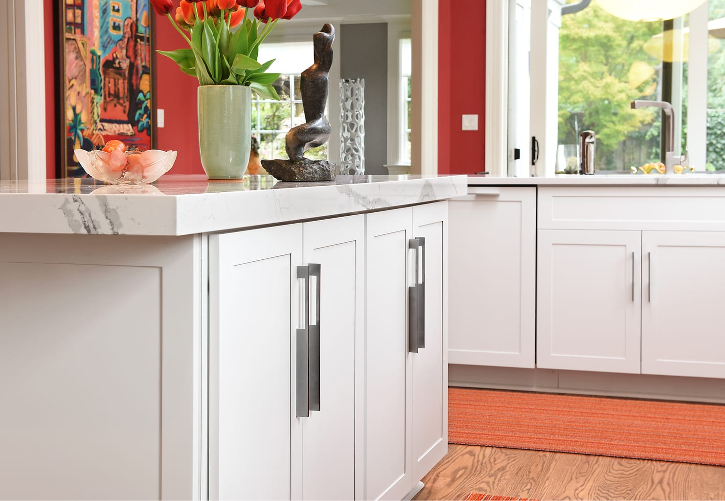Shaker Doors Kitchen White Shaker Doors And Stainless Steel Appliances Highlight The