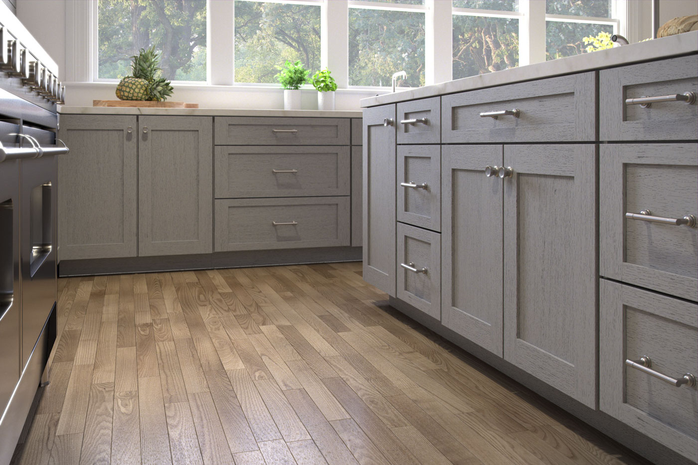 Kitchen Cabinets Solid Wood Construction Arcadia Grey Shaker Kitchen Cabinets