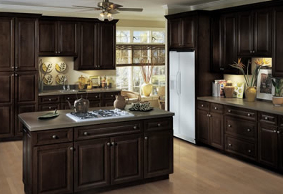 Kitchen Cabinets Solid Wood Construction Espresso Shaker Kitchen Cabinets