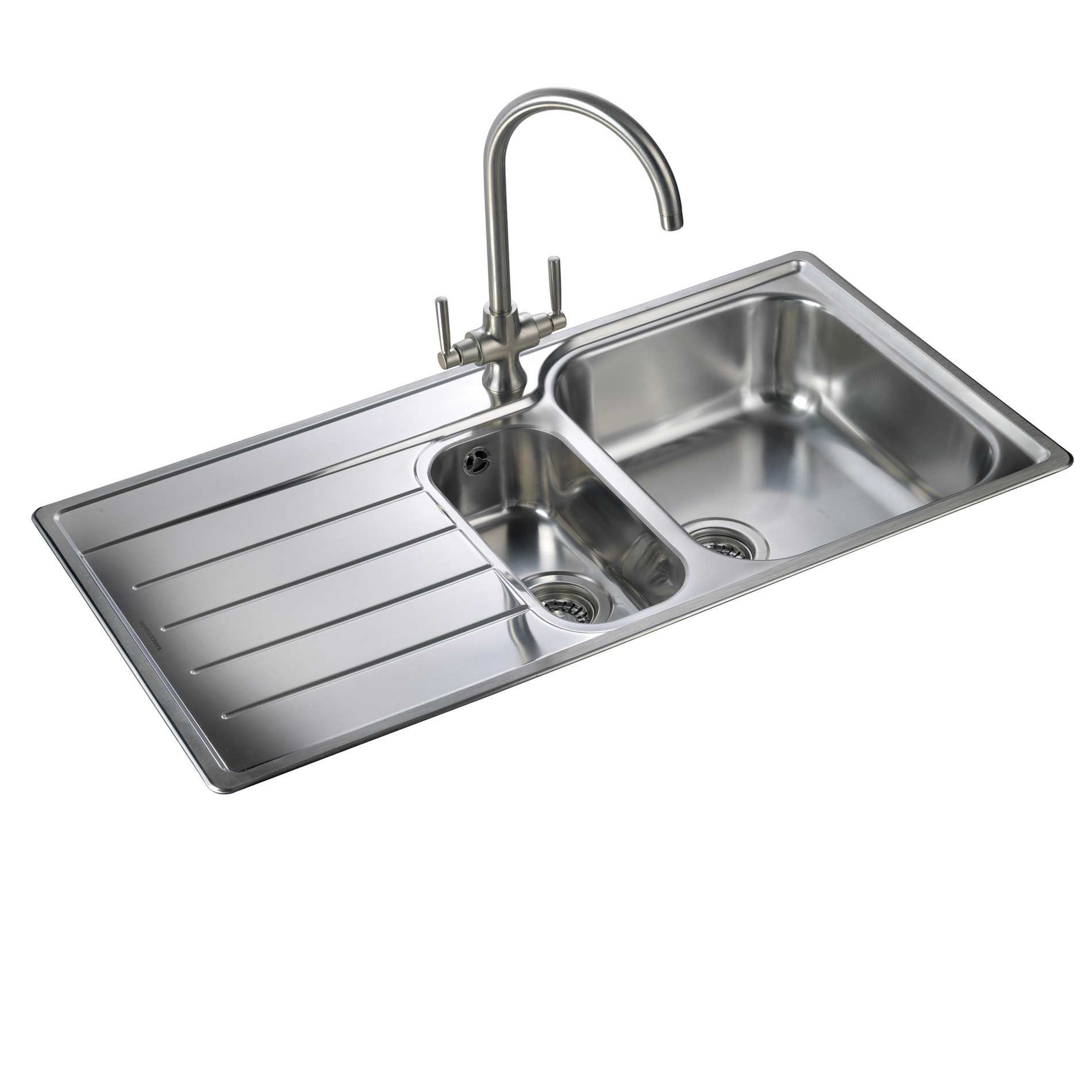 Kitchen Sinks Rangemaster Oakland Ol9852 Stainless Steel Sink Kitchen