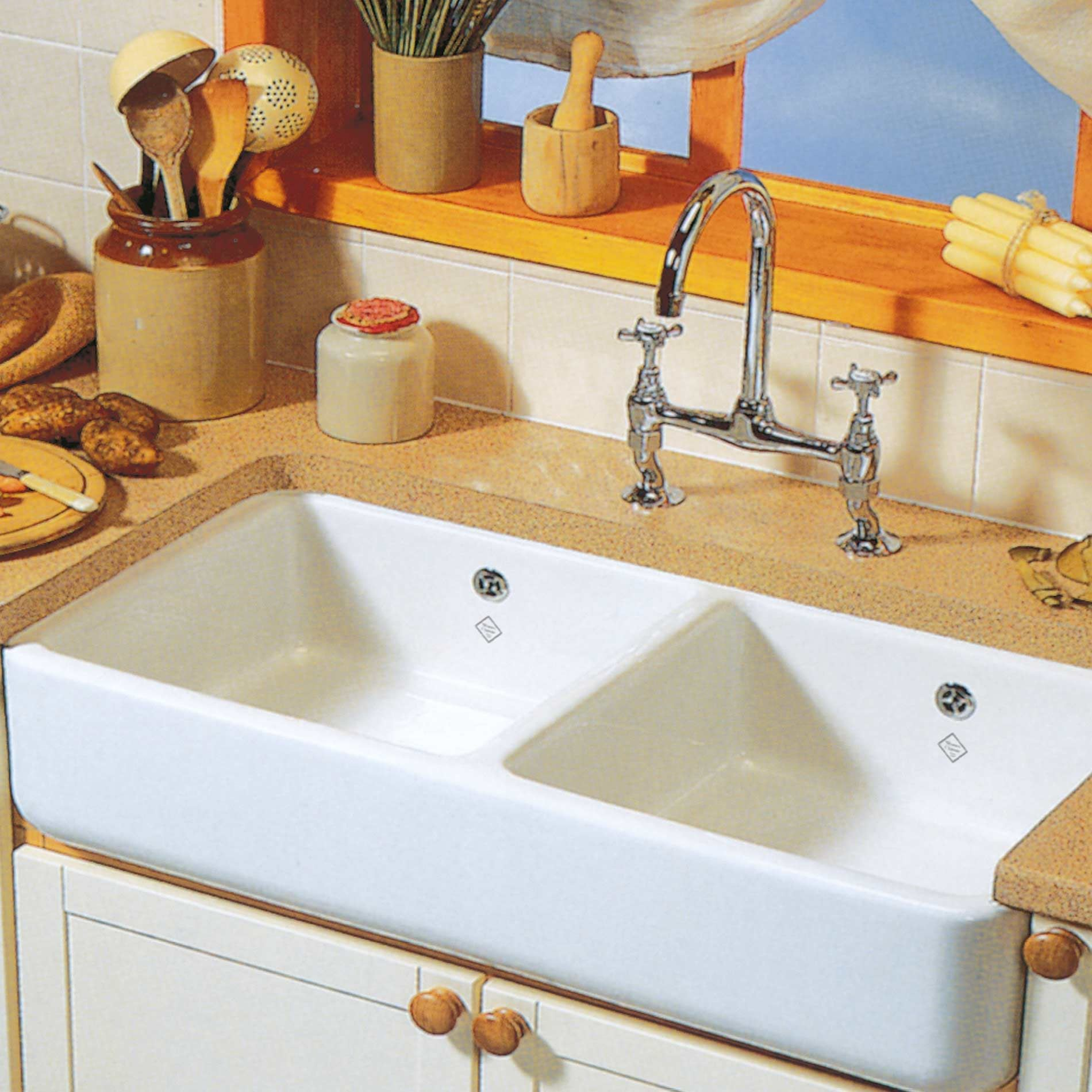 Ceramic Kitchen Sink Shaws Classic 1000 Double Ceramic Sink Kitchen Sinks And Taps