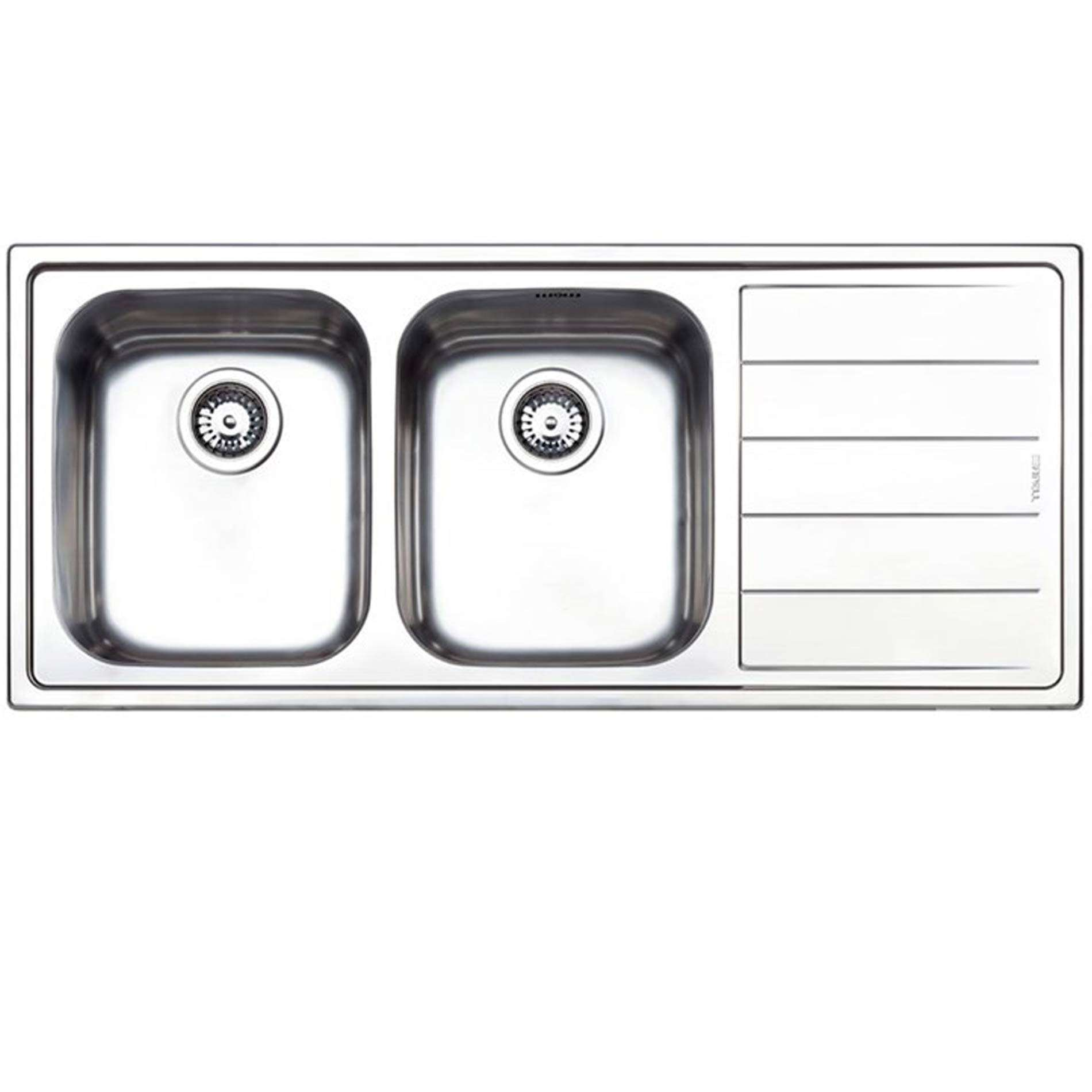 Stainless Steel Double Sink Clearwater Linear Double Bowl Stainless Steel Sink