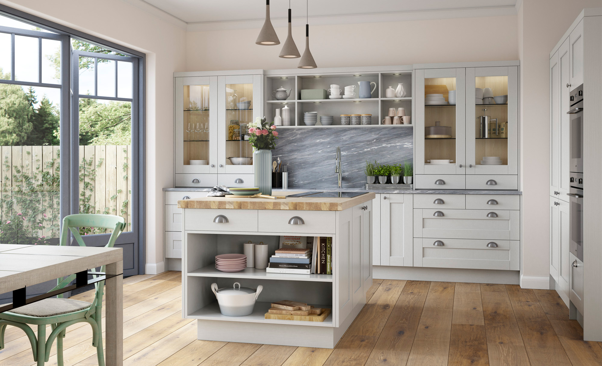 Kitchen Open Door Design Shaker Kitchen Doors Kensington Light Grey Uform
