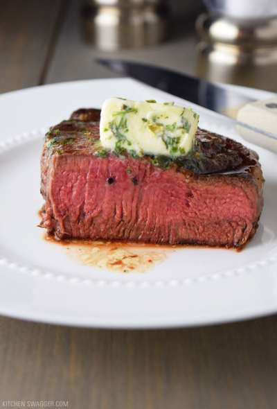 Pan-Seared Filet Mignon with Garlic & Herb Butter Recipe | Kitchen Swagger