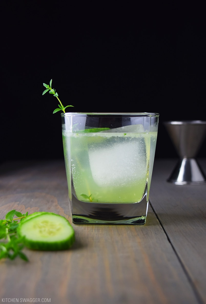 Drink Gin Cucumber Gin And Thyme Fizz Recipe