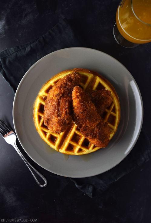 Medium Of Chicken  Waffles