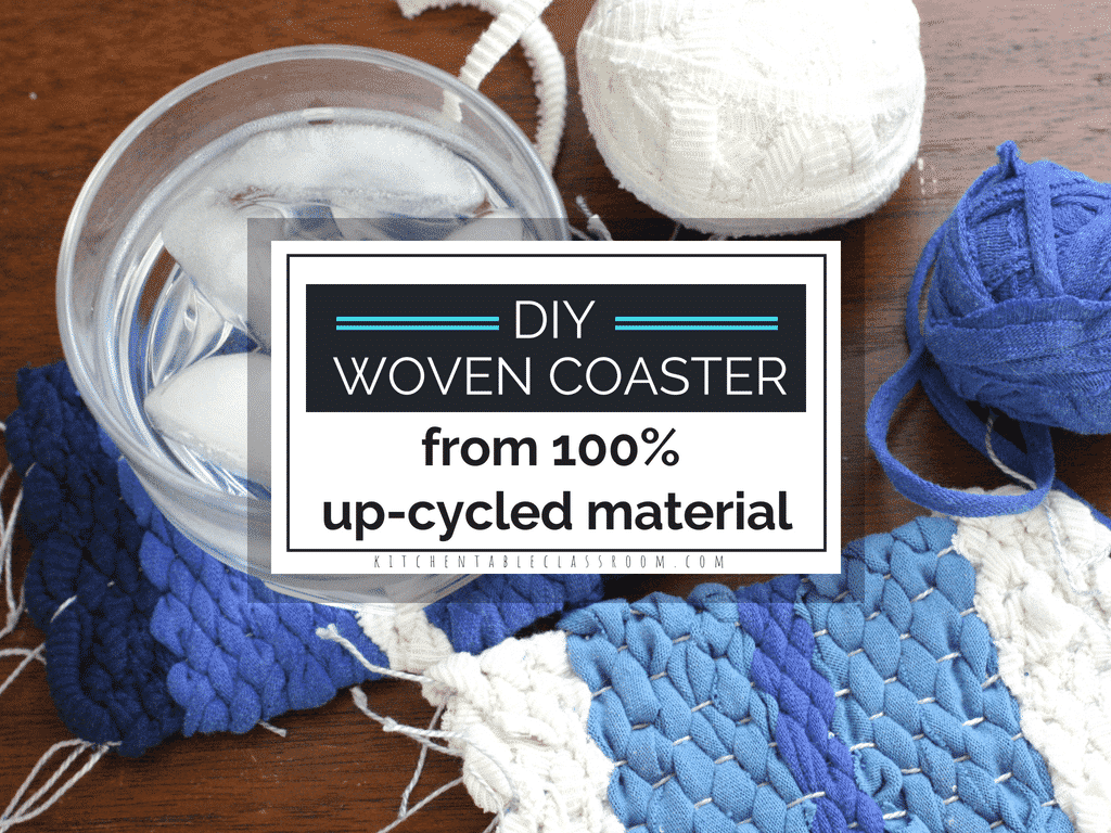 Diy Table Coasters Diy Coasters From Up Cycled Yarn The Kitchen Table Classroom