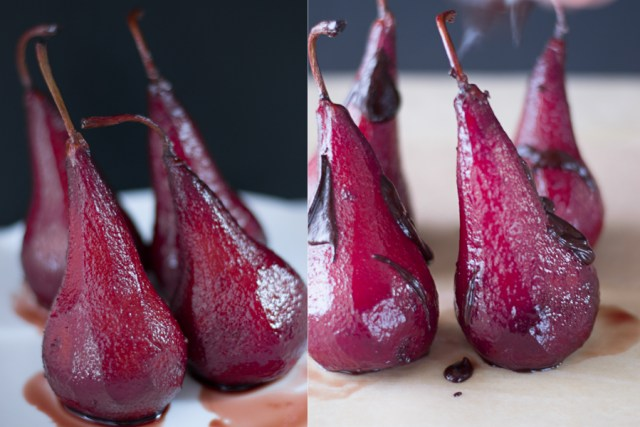 poached pears print