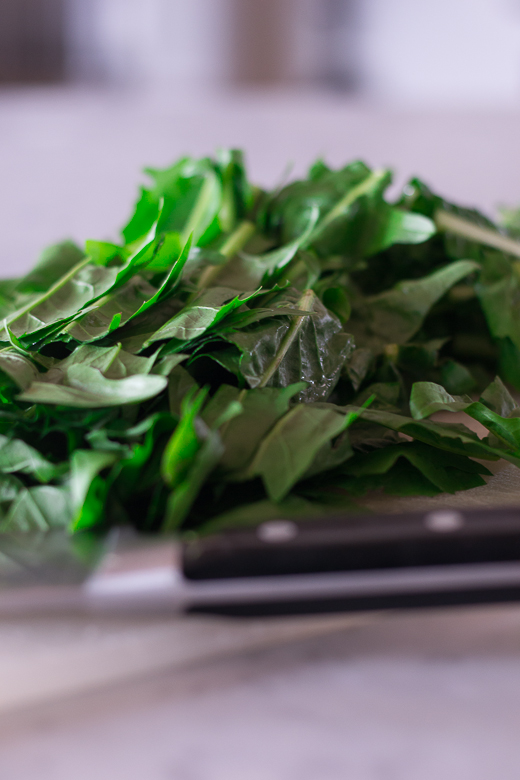 cut up dandelion