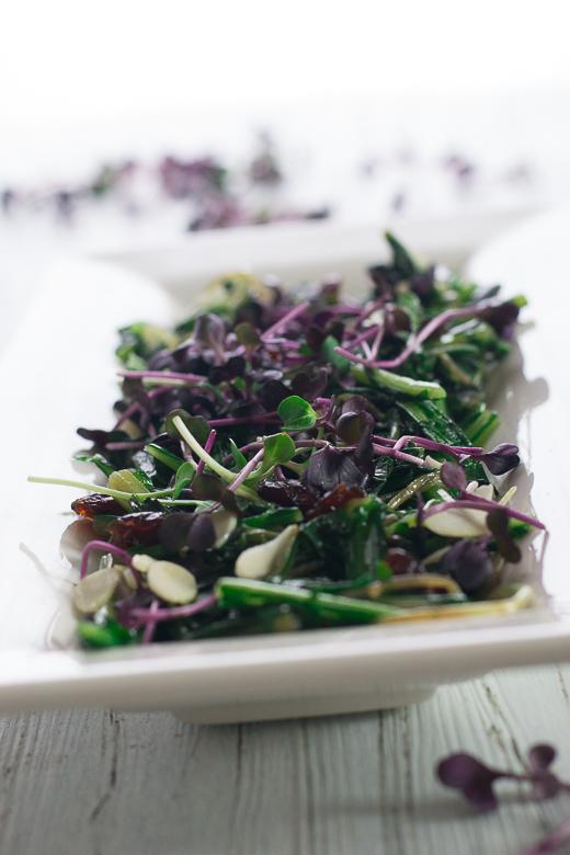 winter dandelion salad