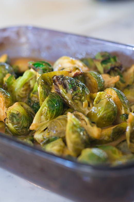 out of oven brussel sprouts