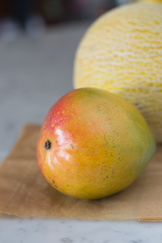 mango and cantaloupe