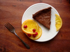 Flourless Three Ingredient Chocolate Cake