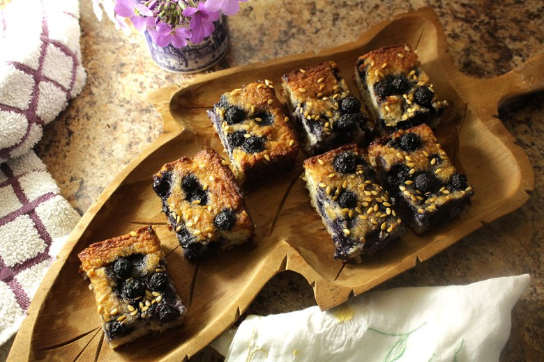 Blueberry Bliss Bars (vegan blueberry bread)