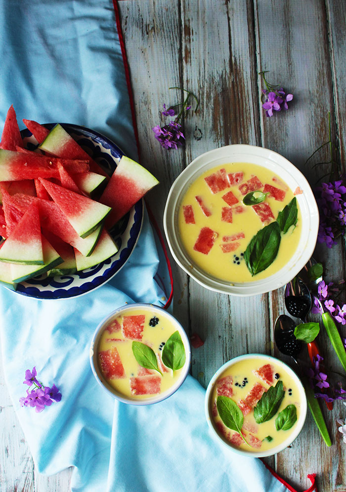 this refreshing summer soup is the prefect palate cleanser. sweet, light, and clean. vegan