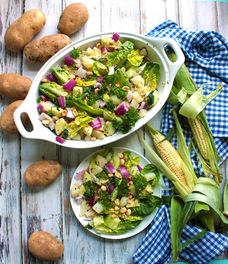 A shameless potato salad. No eggs, no mayo, no fuss.Carbs? Absolutely.
