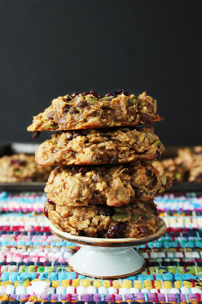 These delicious vegan breakfast cookies are just like a bowl of oatmeal, minus the spoon. They are gluten free (not that you'd miss a thing) and perfect for a grab and go breakfast.