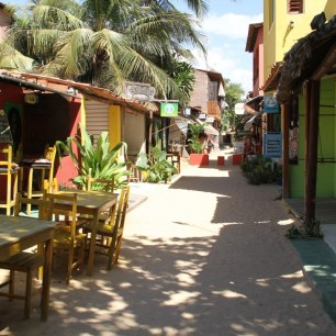 Sandy Narrow Side Streets