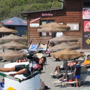Terraced beach action