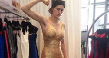 Out Androgynous Model Proves Lesbians Most Definitely Can Wear Hervé Léger Dresses