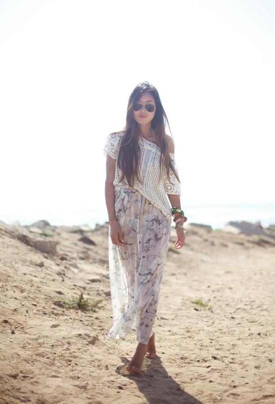 Пляжный стиль одежды 2012 — Лёгкое макси