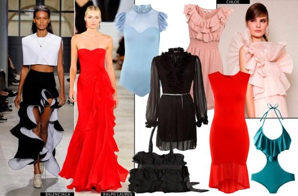 Разнообразные оборки - Модный тренд лета 2013