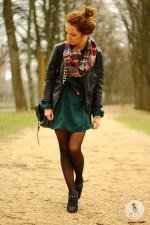 3 - Как носить шарфы  с узором - Резкие контуры
