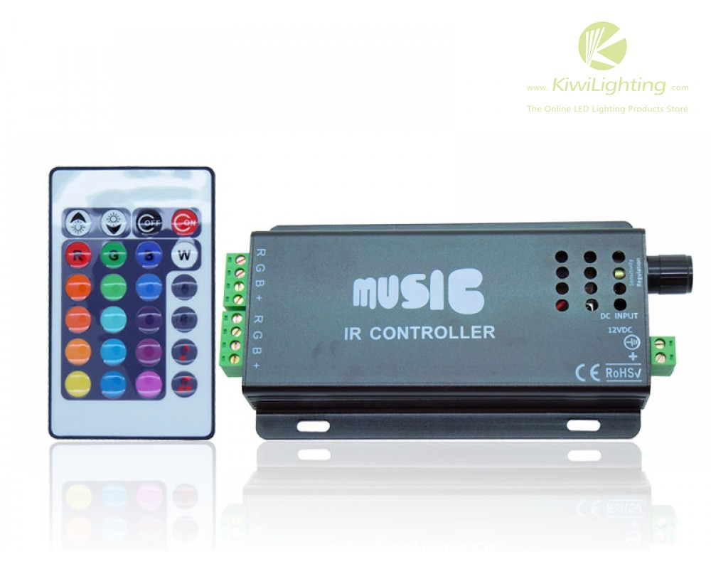 Controller Led Rgb 24 Key Rgb Music Led Rgb Controller Black Color With Remote Control