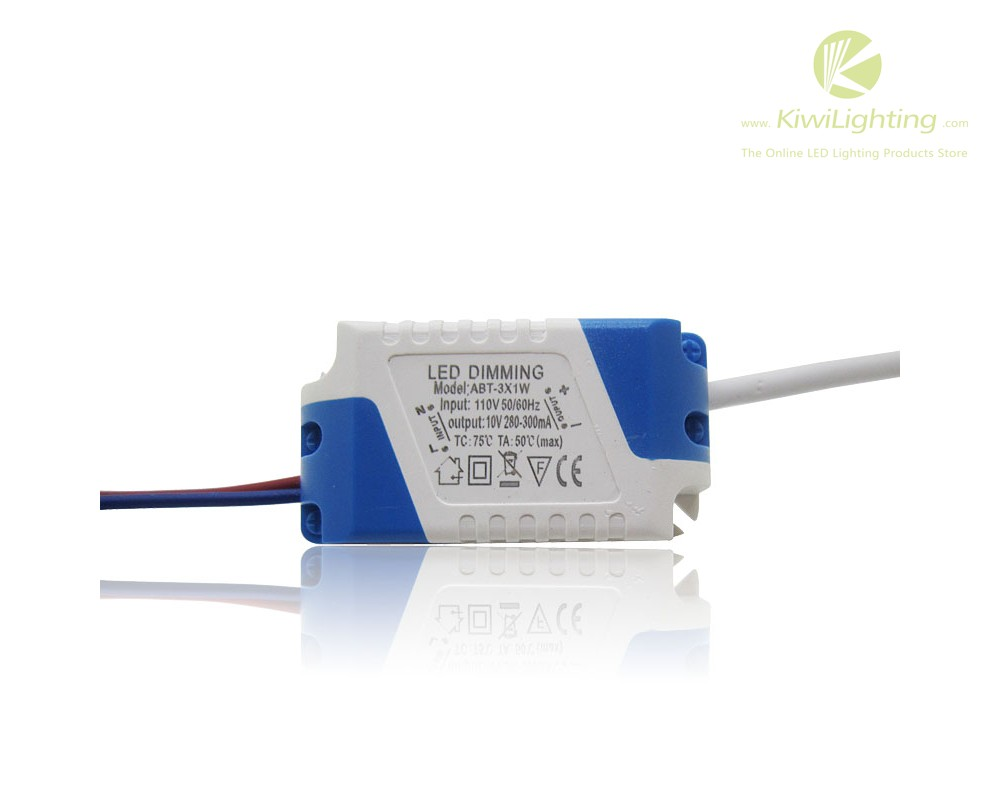 Led 220v 3x1w Dimming Led Driver Input 220v 110v Led Lighting Transformers 10v 280 300ma