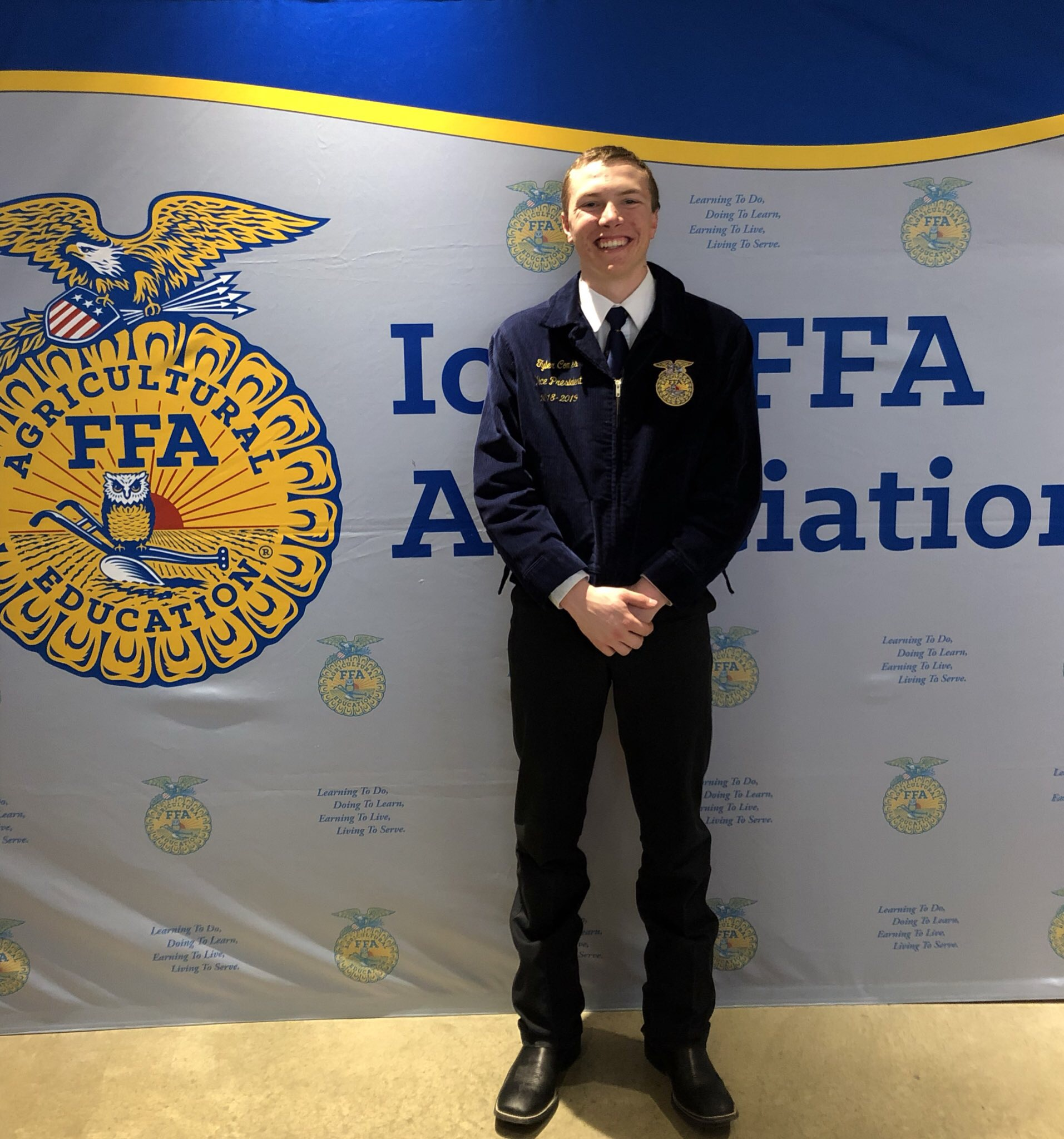 Handson Kweekkas Serre Comes Elected As A 2019 20 Iowa Ffa State Officers Kjan Radio
