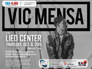 Vic Mensa will perform at the Lied Center on Thursday, Oct. 8, 2015
