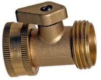 Brass Garden Hose Shut-Off valve   Cool Tools
