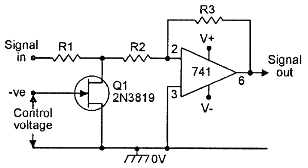 voltage controlled resistor circuit