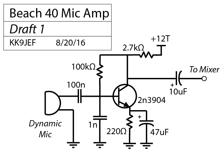 mic amplifier amplifier circuit design