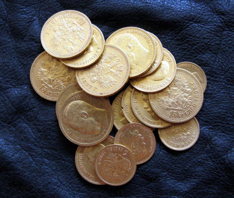 Находки золотых монет царских времен :: находки кладов.