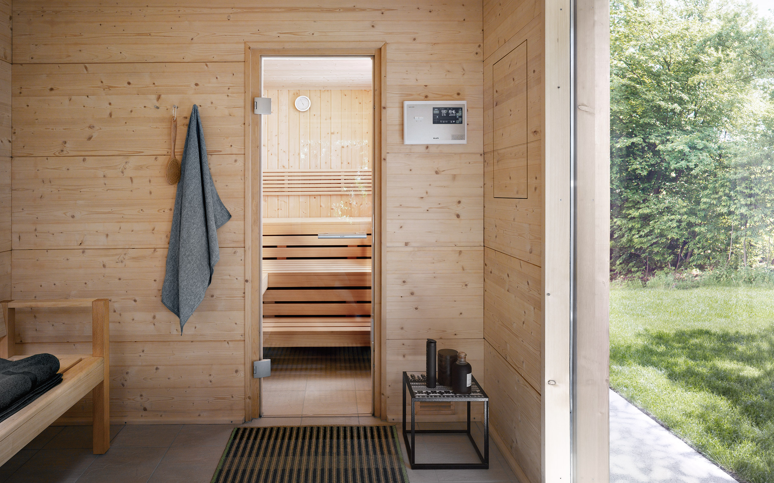 Klafs Aussensauna Talo Outdoor Sauna: Swathed In Natural Surroundings