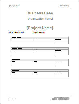 Business Case Templates (MS Word) Templates, Forms, Checklists for