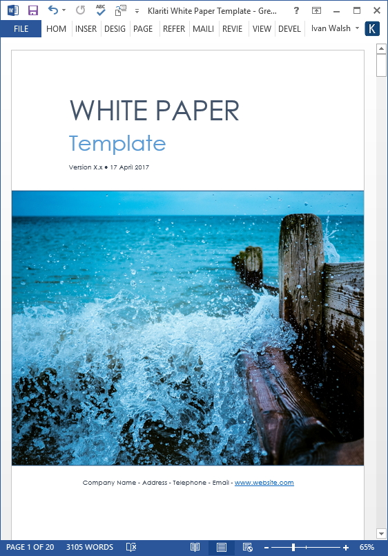 White Papers Templates, Forms, Checklists for MS Office and Apple
