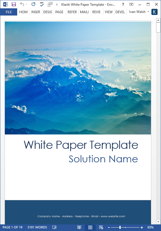 How to Structure a White Paper