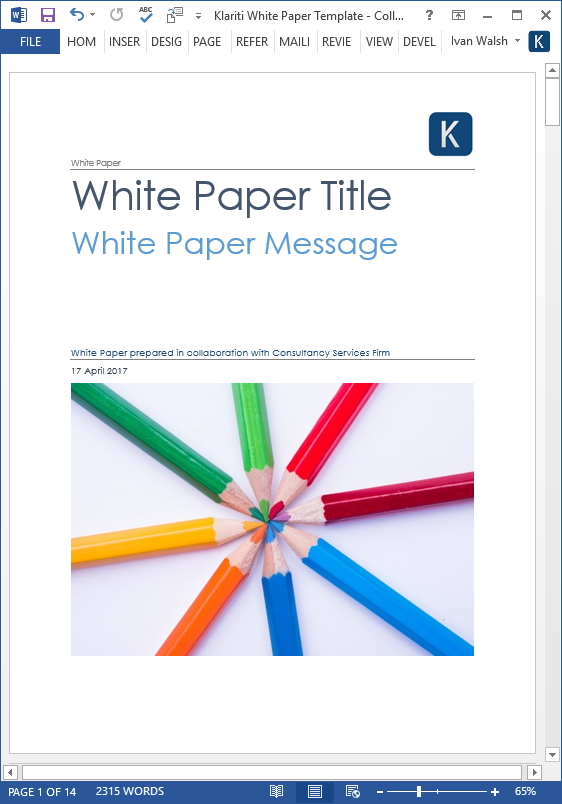 15 x White Paper Templates (MS Word) Templates, Forms, Checklists