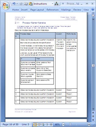 Business Process Design Templates \u2013 MS Word, Excel + Visio