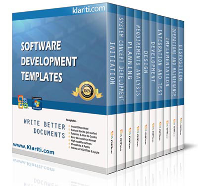 60 x Software Development Lifecycle Templates (MS Word/Excel/Visio