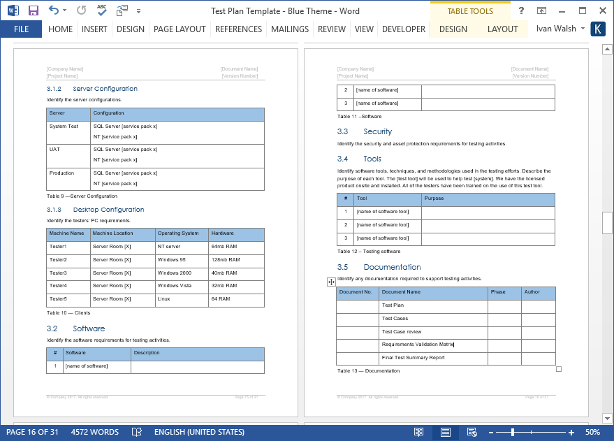 ms project plan template
