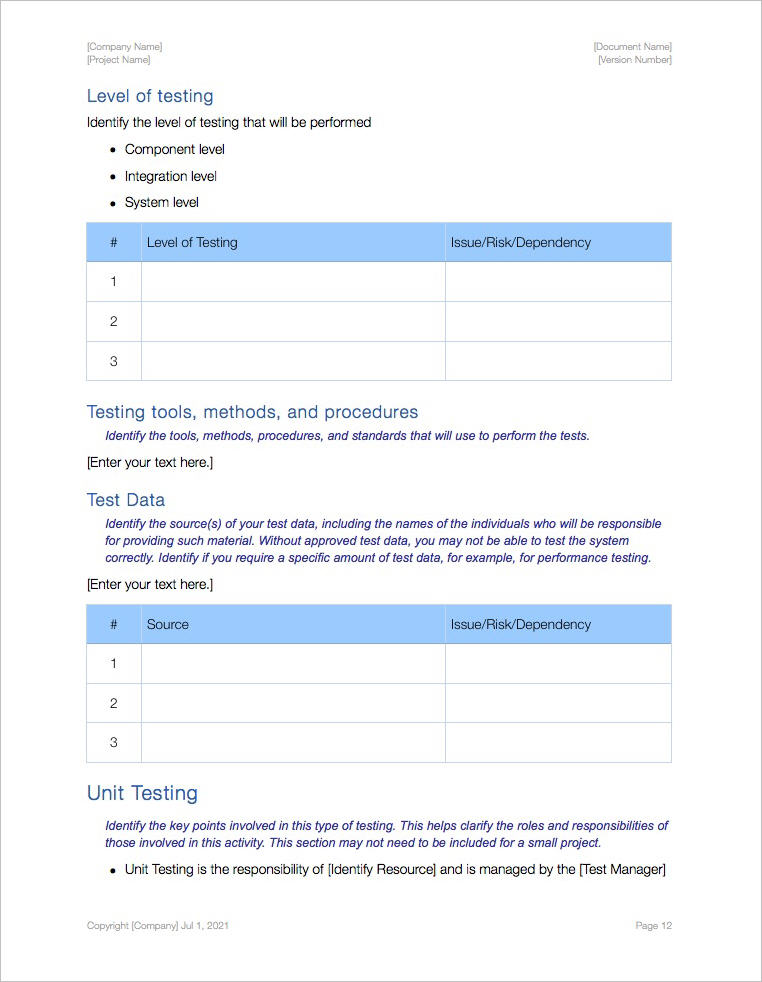 Acceptance Test Plan (Apple iWork Pages) Templates, Forms