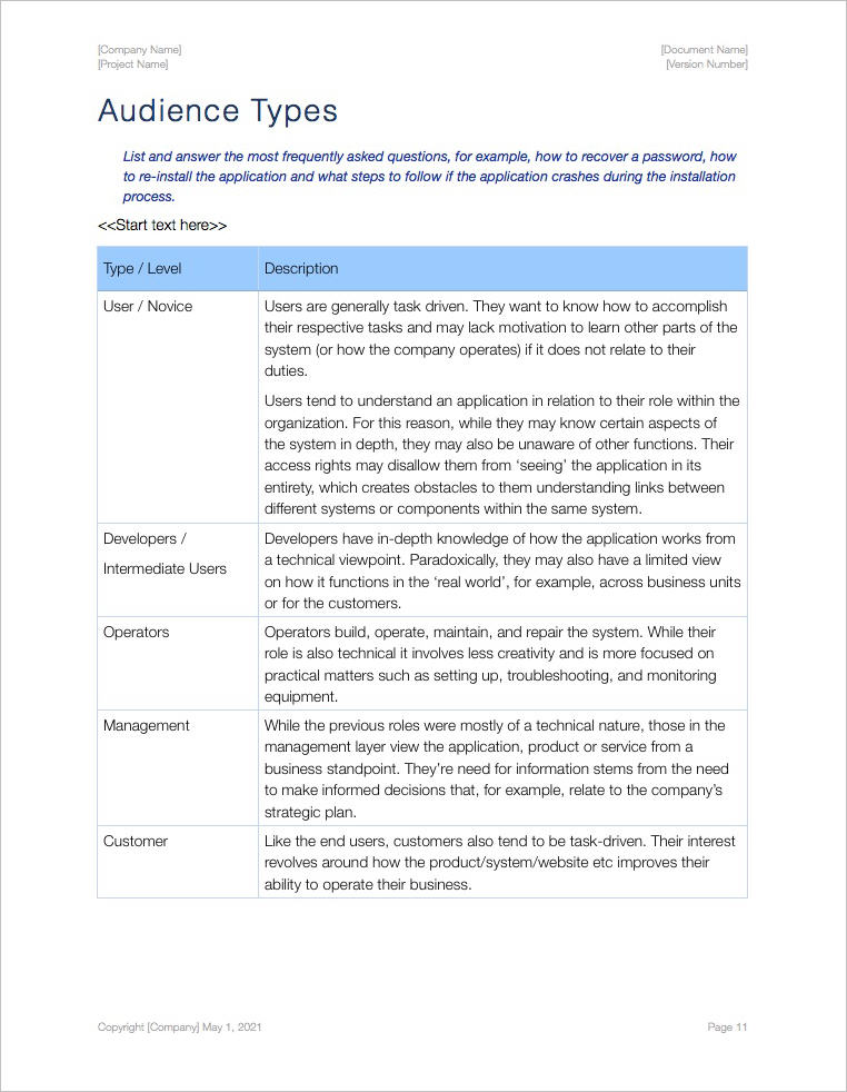 Audience Analysis Template (Apple iWork Pages and Numbers) - analysis paper template