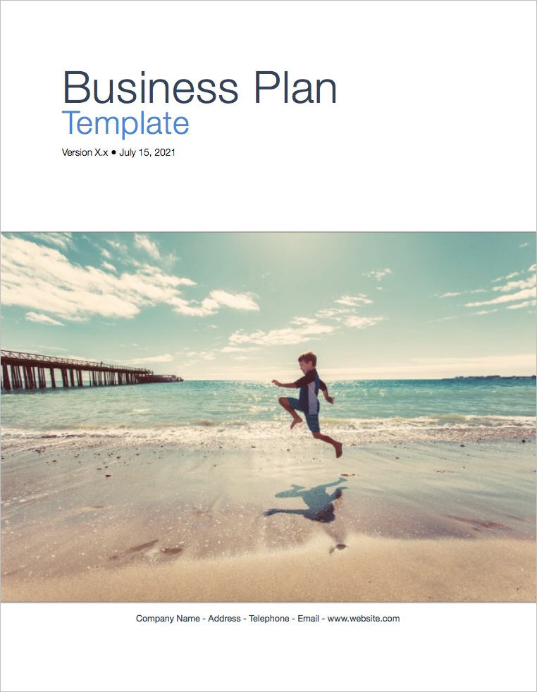 Business Plan Template (Apple iWork Pages and Numbers) Templates