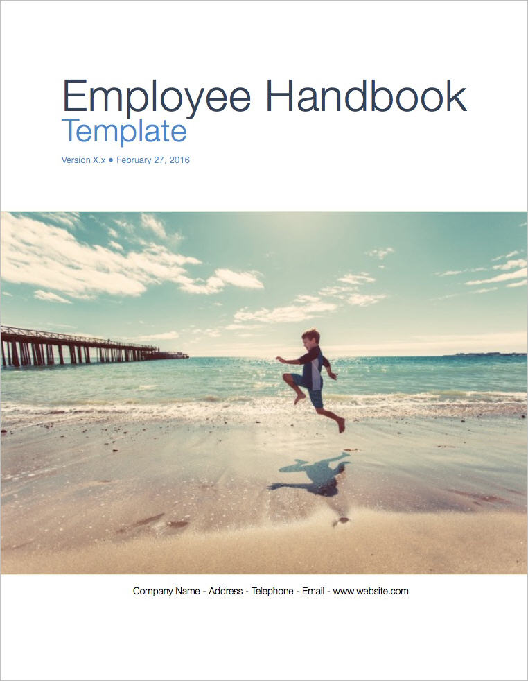 Employee Handbook Template (Apple iWork Pages/Numbers) - manual cover page template