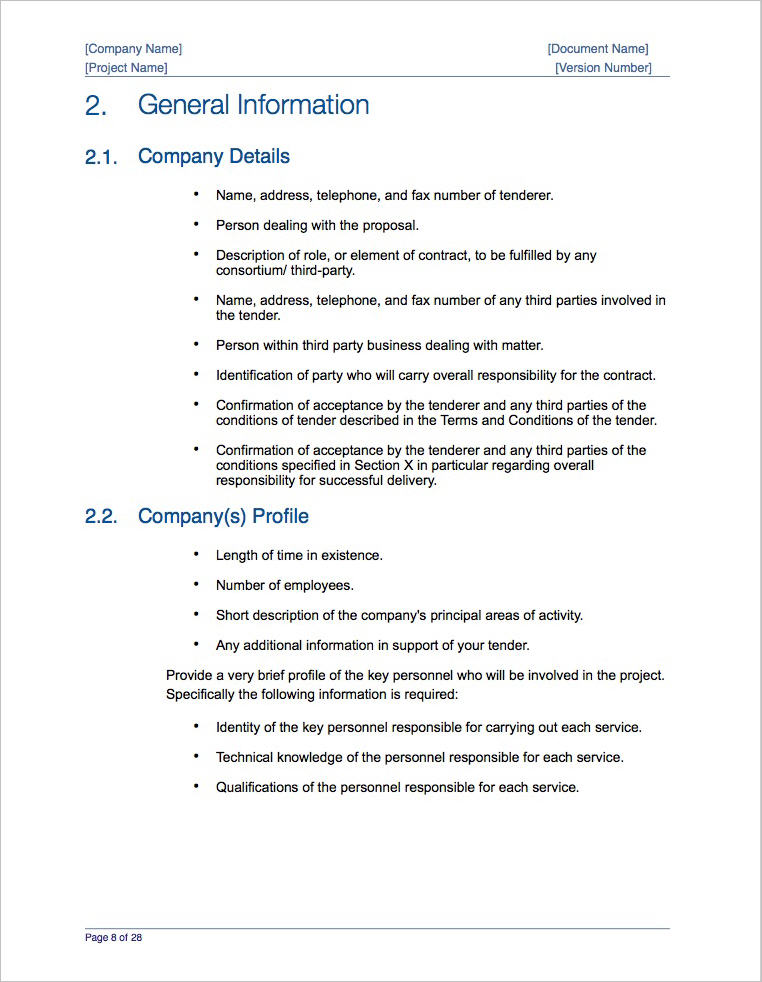 Business Proposal Template (Apple iWork Pages) - company proposal format